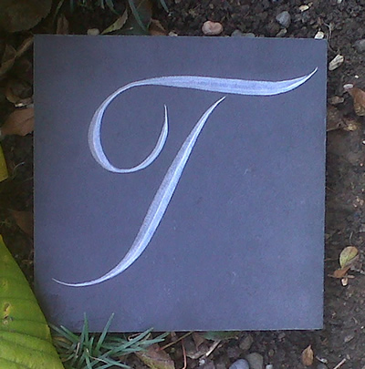 Individually designed letters...